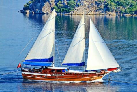 Gokce sailing sea