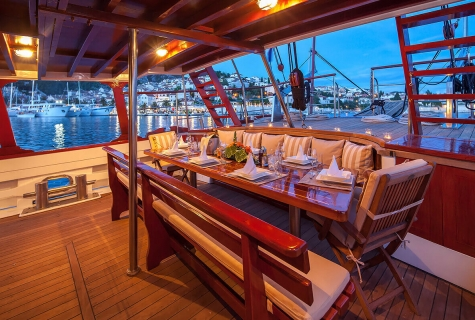 Aft Deck at Evening
