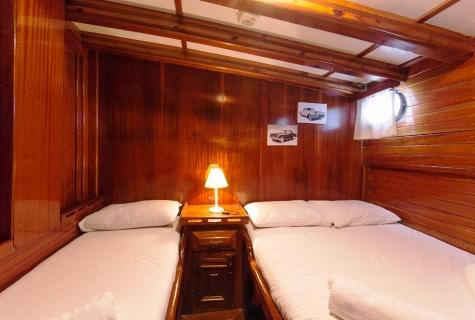 Blue Cruise guletTwin Cabin