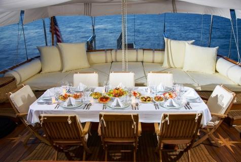 Dea Del Mare deck table