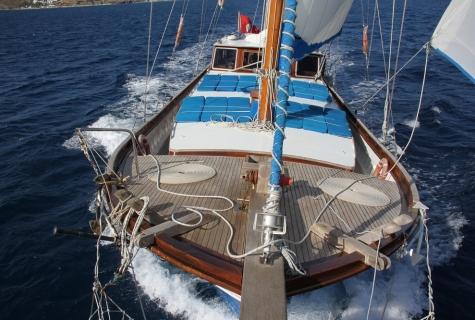 Sails up