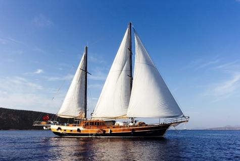 Karina sails