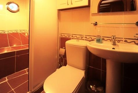Bathroom in each cabin