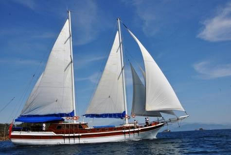 Gulet Salmakis under sails
