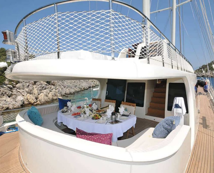 Aft Deck with Sundeck Above