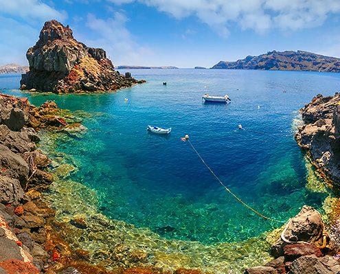 Armeni bay, Santorini