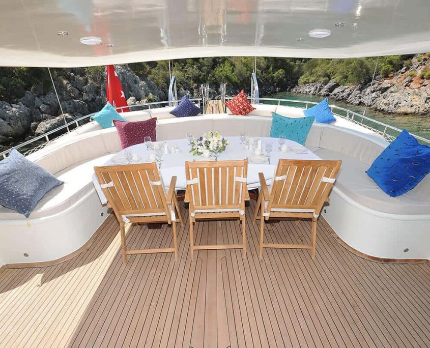 Dining Table on Aft Deck
