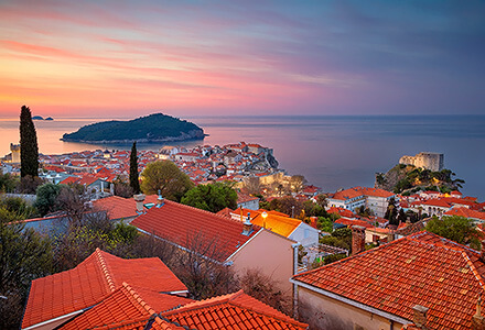 Sunrise in Dubrovnik