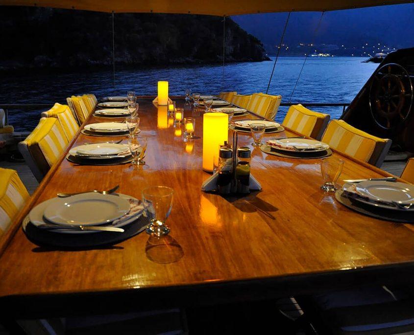 FLAS VII Dinner Time on Aft Deck
