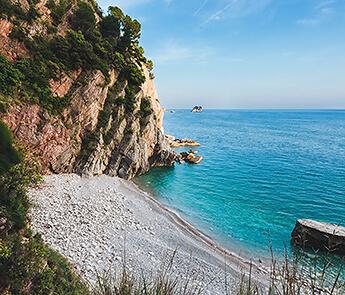 Hidden Pebble beach , Montenegro