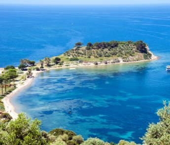 Kusadasi, bird island on the turkish coast