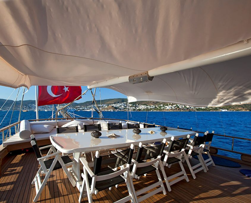 OSMAN KURT Dining Area on Aft Deck
