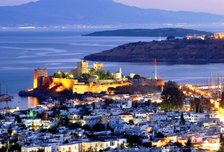 Bodrum city by night