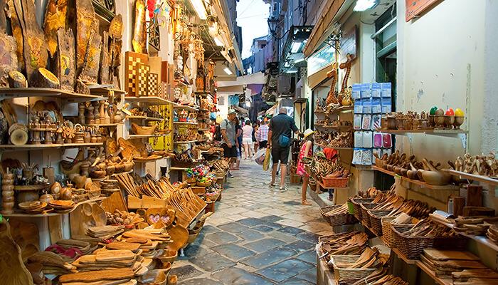 Shopping in Corfu