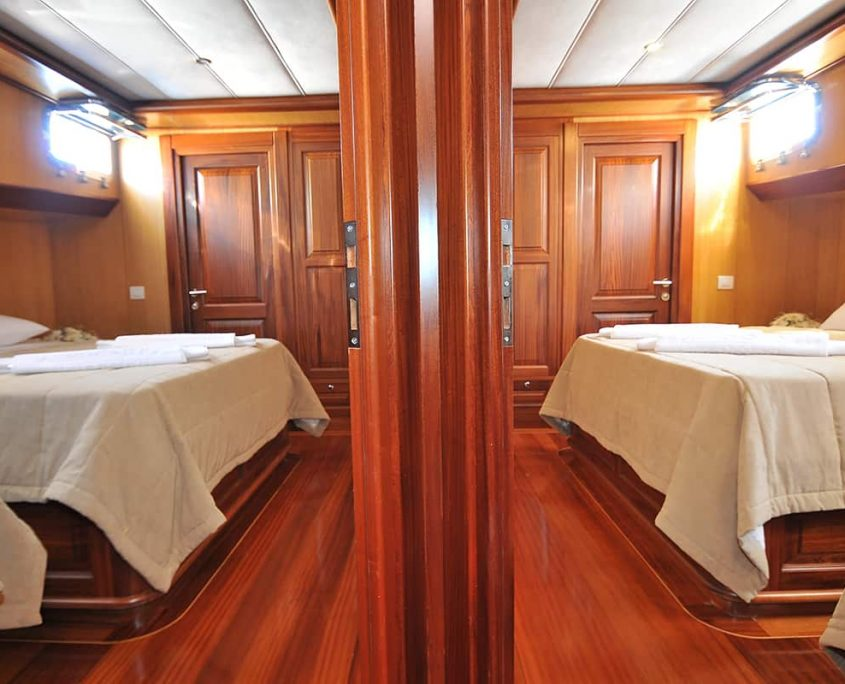Triple Cabins from Hallway