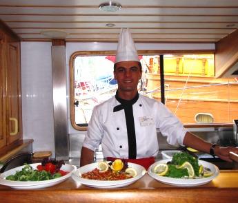 chef on gulet