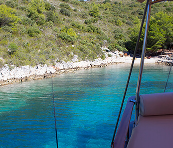 Hidden Bay on Island Hvar