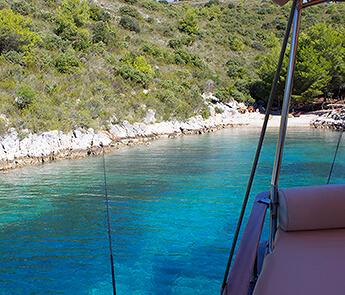 Hidden Bay on Island Hvar