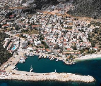 Kalkan town view