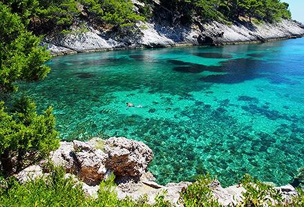 Snorkeling in Korčula