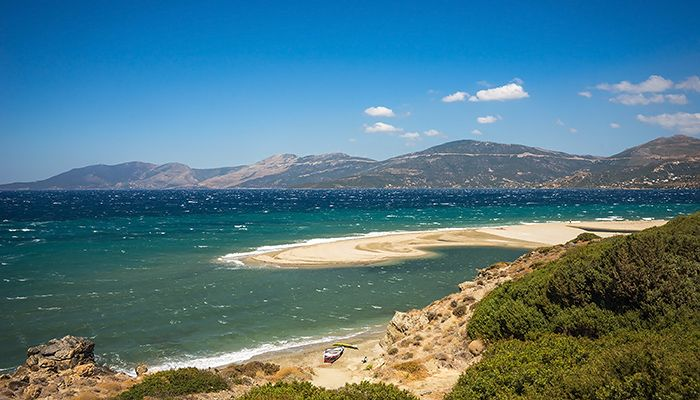 Golden sand beach Evia