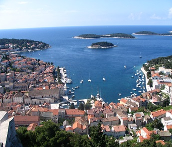 Hvar view from Castle