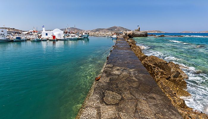 Port in Naoussa, Paros