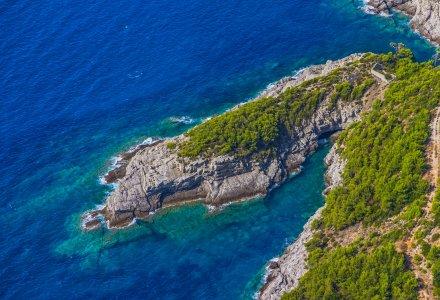 Reef on Elaphites island Lopud - Dubrovnik archipelago