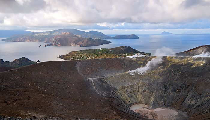 View from Vulcano Lipari