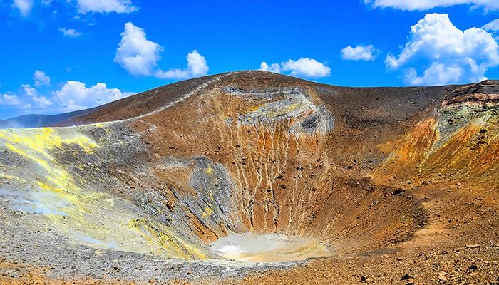 Volcano Crater On Vulcano Island