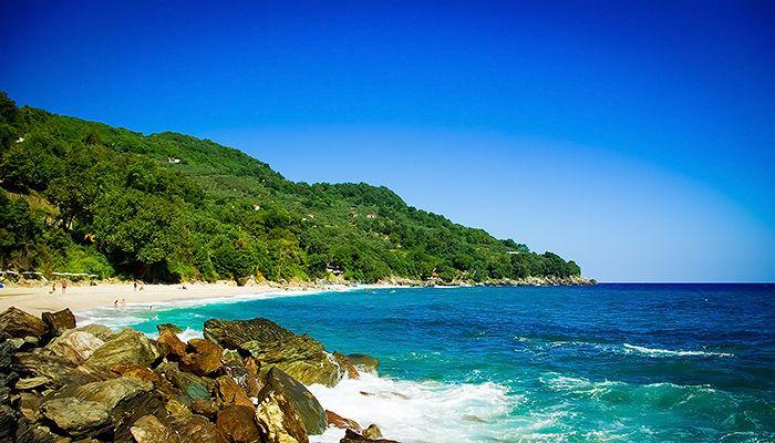 Beach Plaka on Pelion peninsula