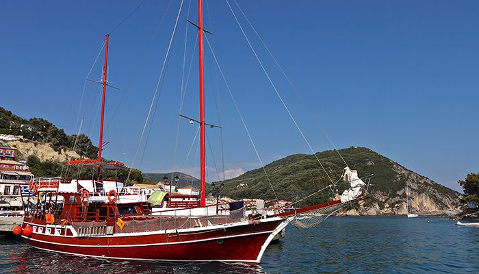 Gulet yacht in Port