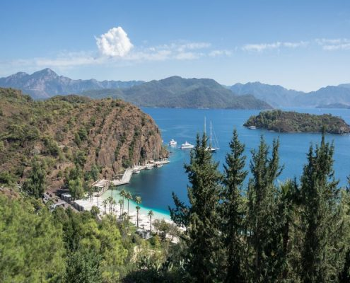 A panoramic landscape in Marmaris region