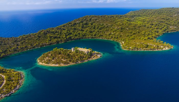 Aerial view of Mljet