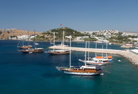Harbor in Bodrum Town