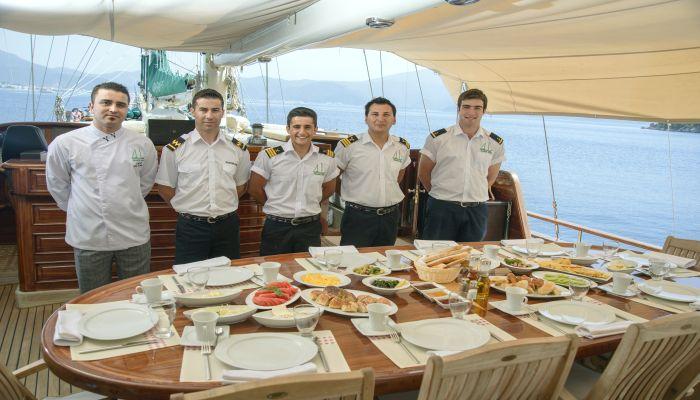 Gulet Grande Mare - Crew