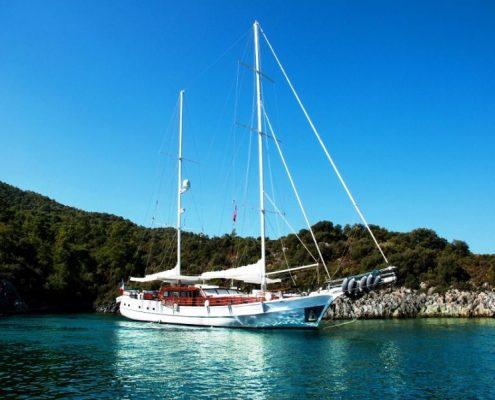 Gulet Smile at anchor