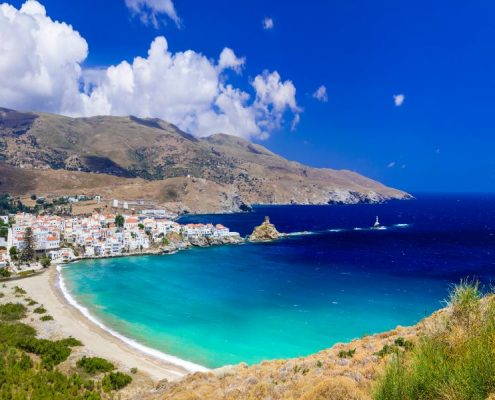 impressive landscapes and beautiful beaches of Greece - Andros i