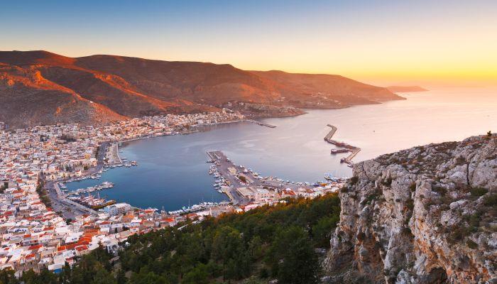 Kalymnos island in Dodecanse archipelago in eastern Aegean