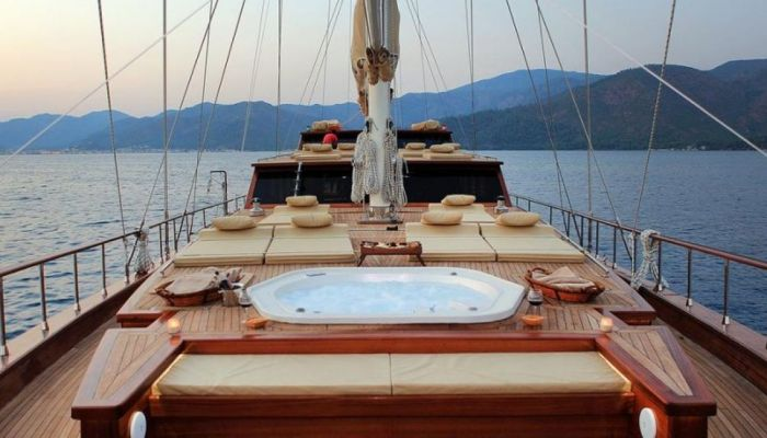 Luxury gulet deck