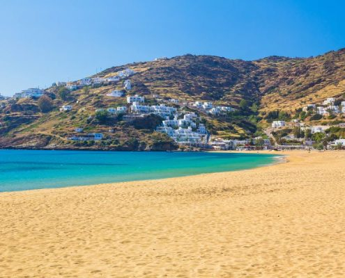 Mylopotas beach Ios island Cyclades Aegean Greece