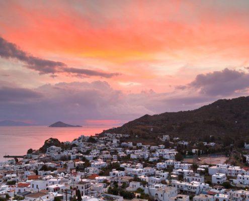 Patmos island in Dodecanse archipelago in eastern Aegean.