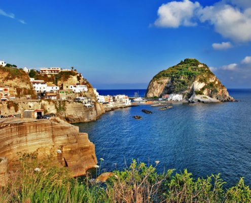 travel in Italy series - view of sant-angelo, Ischia island