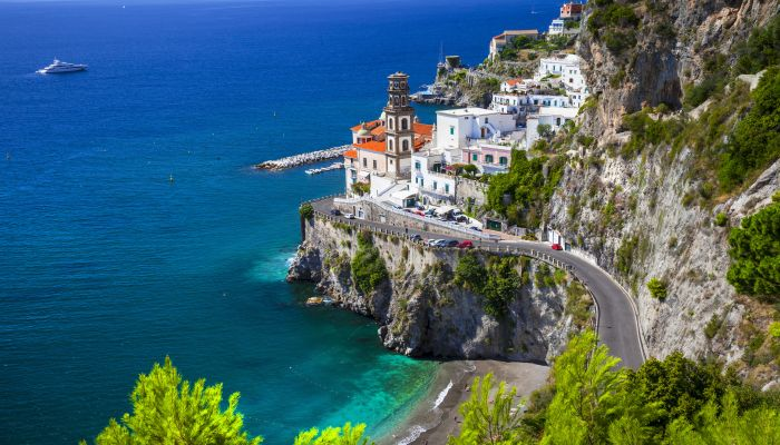 Beautiful Amalfi coast of Italy - view of Atrani