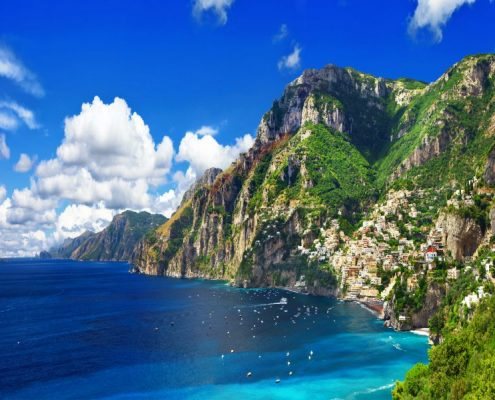 Scenery Amalfi coast of Italy - panorama, Positano