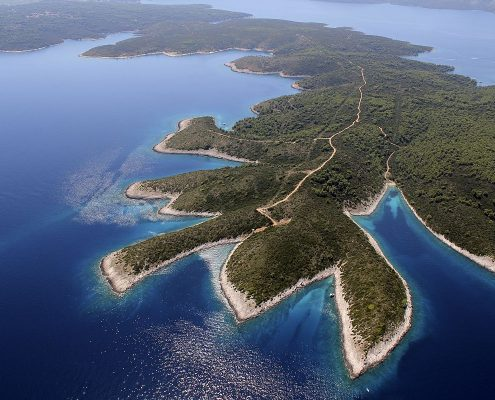Island Hvar from air
