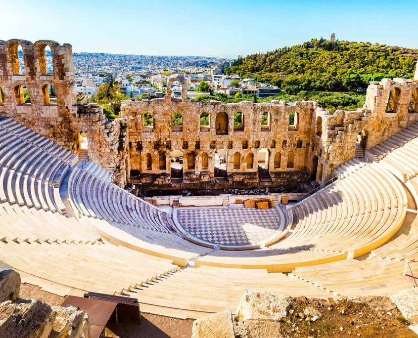 Ancient amphitheater Athens Greece