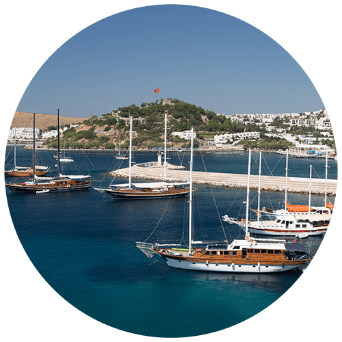 Bodrum Town in Mugla City Aegean Turkey
