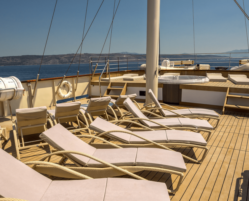 CASABLANCA Sun loungers on upper deck