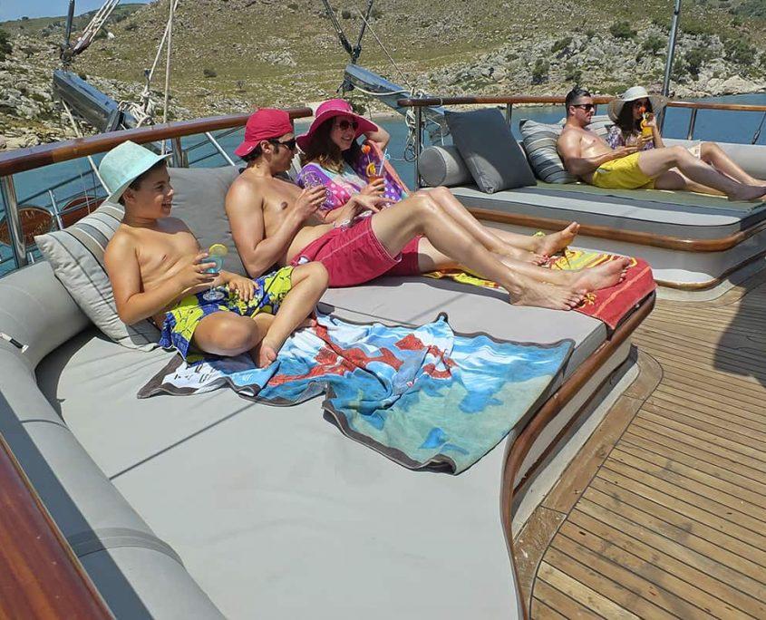 KAPTAN MEHMET BUGRA Cushioned area on Aft deck